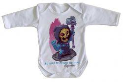 Roupa Bebê manga longa Esqueleto He Man