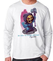Camiseta Manga Longa Esqueleto He Man