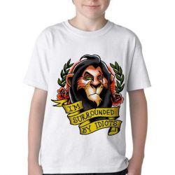 Camiseta Infantil Scar Cercado por Idiotas