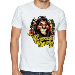 Camiseta Scar Cercado por Idiotas
