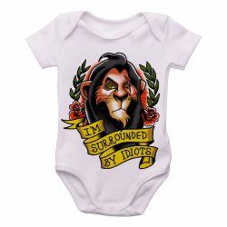 Roupa Bebê Scar Cercado por Idiotas