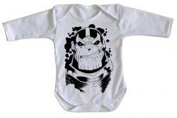 Roupa Bebê manga longa Thanos black