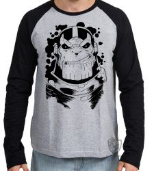 Camiseta Manga Longa Thanos black