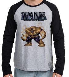 Camiseta Manga Longa Thanos Cartoon