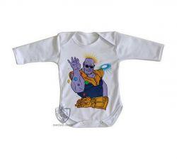 Roupa Bebê manga longa Thanos Dedos