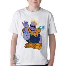 Camiseta Infantil Thanos Dedos