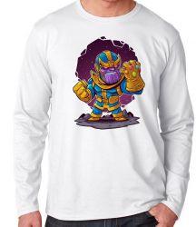 Camiseta Manga Longa Thanos Geek