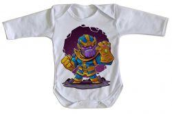 Roupa Bebê manga longa Thanos Geek