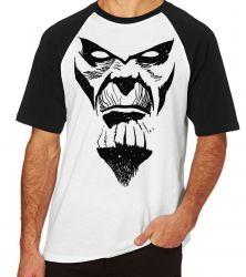 Camiseta Raglan Thanos Rosto