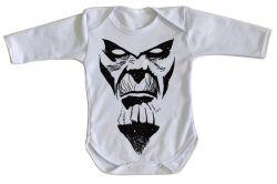 Roupa Bebê manga longa Thanos Rosto