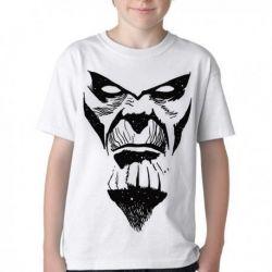 Camiseta Infantil Thanos Rosto