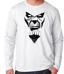Camiseta Manga Longa Thanos Rosto