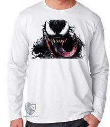Camiseta Manga Longa Venom Aranha