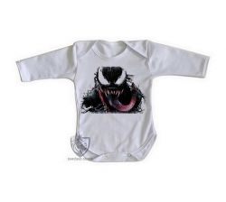 Roupa Bebê manga longa Venom Aranha