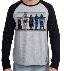 Camiseta Manga Longa Vilões antigos