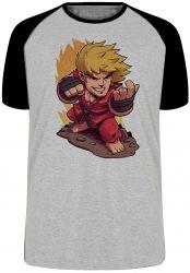 Camiseta Raglan Ken Street Fighter