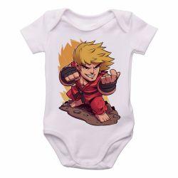 Roupa Bebê Ken Street Fighter