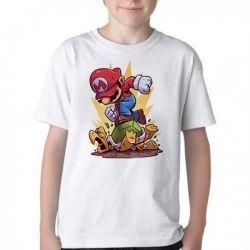 Camiseta Infantil Mario Bros
