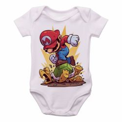 Roupa Bebê Mario Bros
