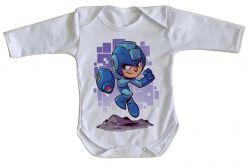 Roupa Bebê manga longa Mega Man