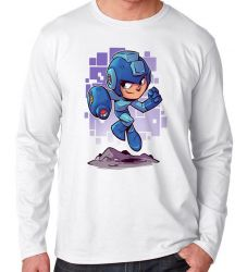 Camiseta Manga Longa Mega Man