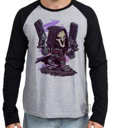 Camiseta Manga Longa Reaper Overwatch
