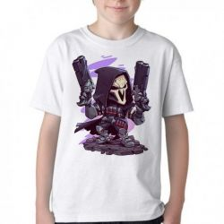 Camiseta Infantil Reaper Overwatch