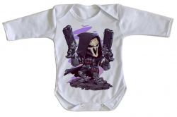 Roupa Bebê manga longa Reaper Overwatch