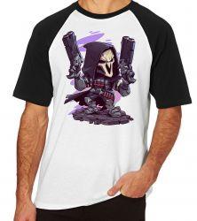 Camiseta Raglan Reaper Overwatch