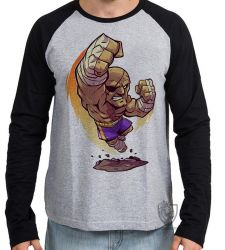 Camiseta Manga Longa Sagat Street Figther
