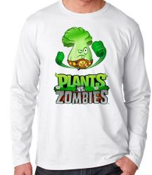 Camiseta Manga Longa Plants vs Zombies