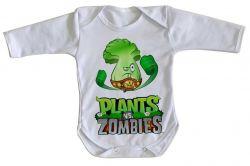 Roupa Bebê manga longa Plants vs Zombies