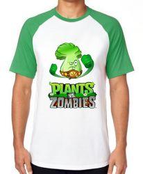 Camiseta Raglan Plants vs Zombies