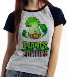 Blusa Feminina Plants vs Zombies