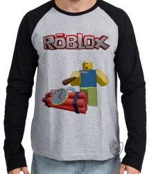 Camiseta Manga Longa Roblox Bomba