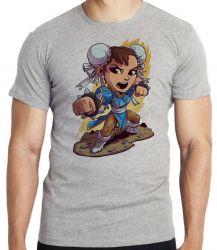 Camiseta Infantil Chun Li Street Figther