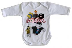 Roupa Bebê manga longa Roblox Turma