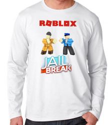 Camiseta Manga Longa Roblox Jail Break