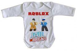 Roupa Bebê manga longa Roblox Jail Break
