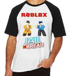Camiseta Raglan Roblox Jail Break