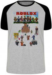 Camiseta Raglan Roblox Personagens