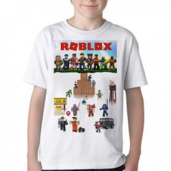 Camiseta Infantil Roblox Personagens