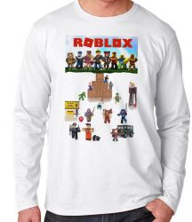 Camiseta Manga Longa Roblox Personagens