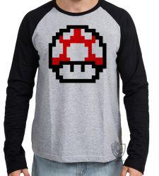 Camiseta Manga Longa Super Mario Mushroom
