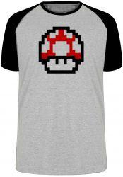 Camiseta Raglan Super Mario Mushroom