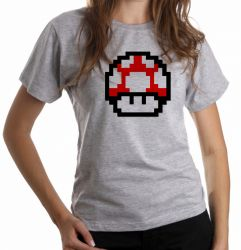 Blusa Feminina Super Mario Mushroom