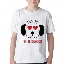 Camiseta Infantil Veterinário Dogtor