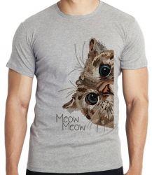 Camiseta Infantil Meow gato