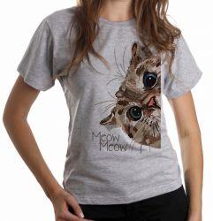 Blusa Feminina Meow Gato