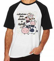 Camiseta Raglan Pilha de Vacas